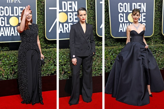 On-the-Runway-The-Golden-Globes'-500-Shades-of-Black-Did-It-Work-696x464