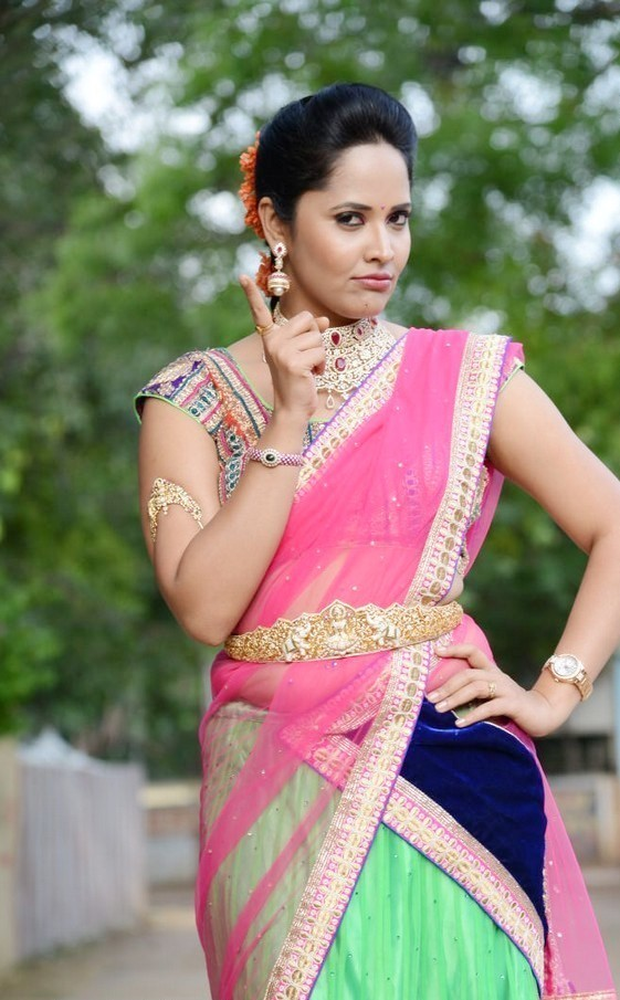 Anchor Anasuya Latest Half Saree Stills