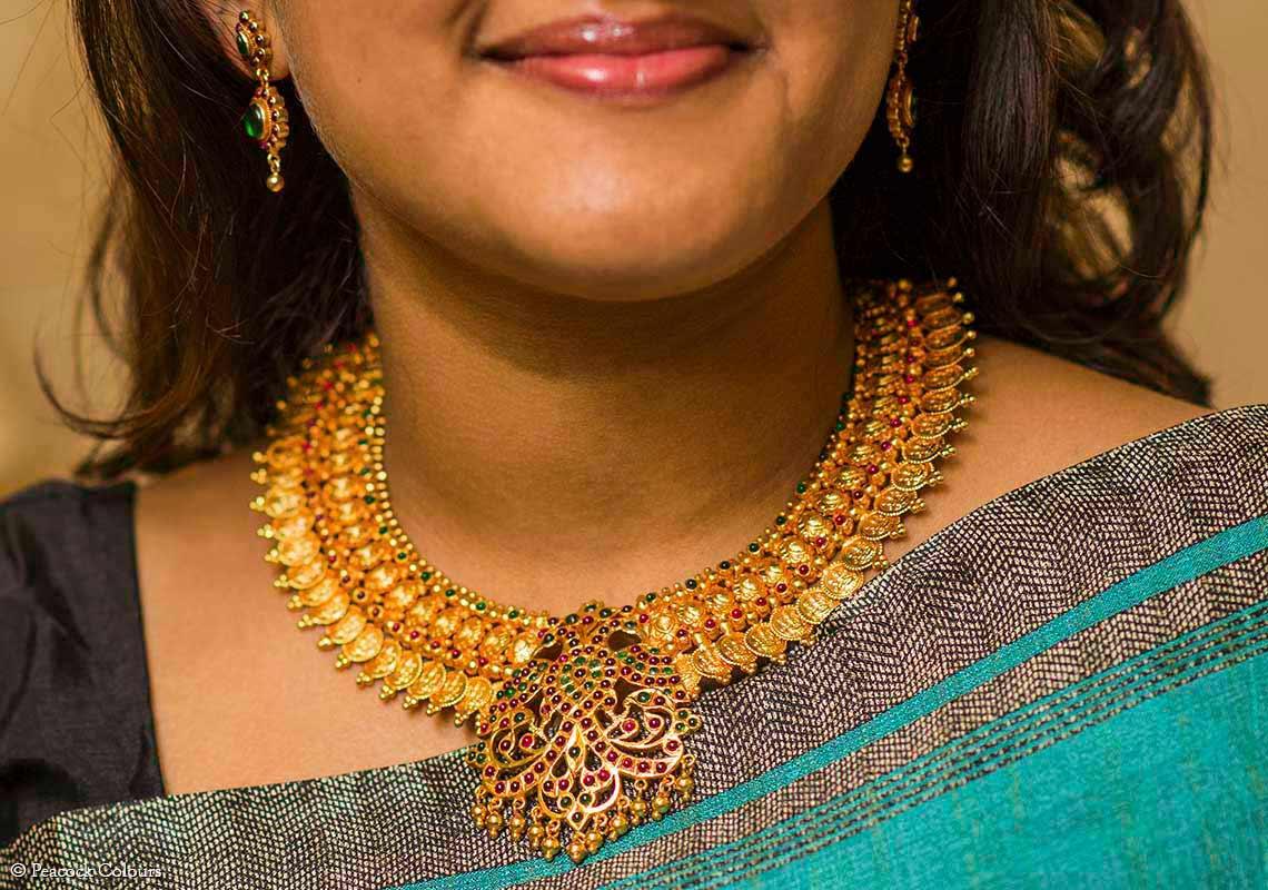 Home-Silver-Temple-laxmi-coin-Necklace-with-Gandaberunda-PC-18182-Main