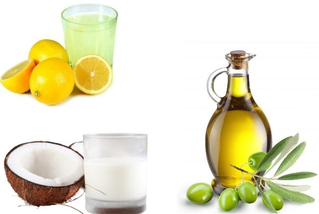 Lemon-Juice-Coconut-Milk-and-Olive-Oil-Pack