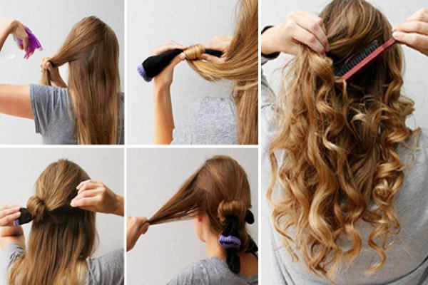 An-interesting-way-to-curl-your-hair-at-home-using-a-sock-1