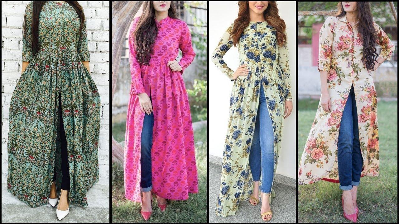 New-Trendy-Ways-to-Wear-Kurti-With-Jeans-2017-2018-15