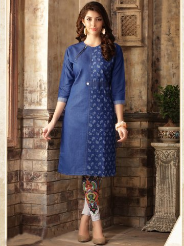 jesal-blue-cotton-denim-kurti