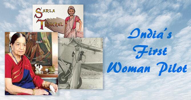 Sarla-Thakral-India's-First-Woman-Pilot