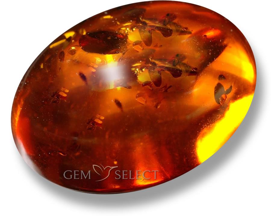 Natural Amber Gemstone Large Image Gemselect