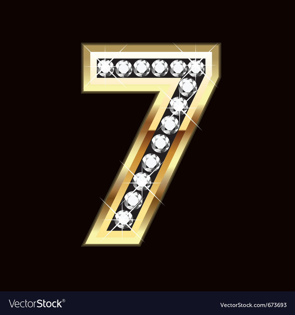 number-seven-bling-gold-and-diamonds-vector-673693
